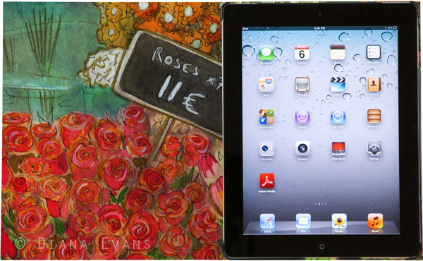 Paris Florist iPad Case